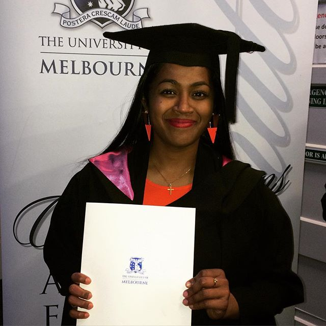 Congratulations to one of our bright minds, Richa Ekka, who recently graduated from her Masters of Urban Planning at Melbourne Uni ️️🍾