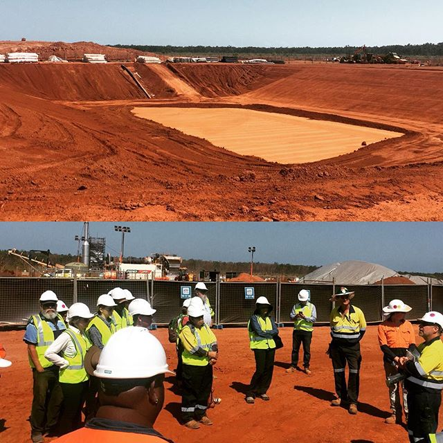 The reference group met with Traditional Owners this week to inspect works on the Cox Peninsula Remediation Project in the #NorthernTerritory. Great to see construction progressing so well as the project steams towards completing works before the onset of the wet season