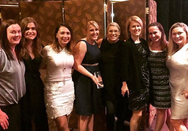 Our team had a great night hearing from Elizabeth Lukin from @aflwomens  and Aasta O'Connor from @bulldogsw while also proudly cheering on our client Anita from TU as she accepted a Bronze Quill for Community Relations
