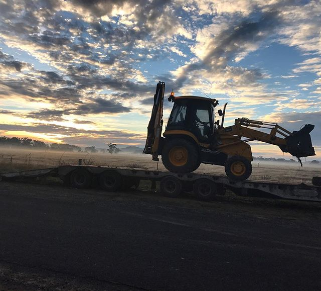 Paul Busowsky is not only a great WHS rep, he's also a budding photographer! Paul took this early morning snap during recent soil test-pitting as part of the geo-investigation works on the Ballarat Line Upgrade.