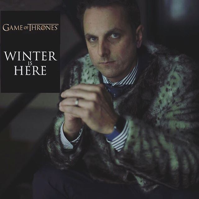 Winter is here. Looking forward to the Game of Thrones season finale tonight.