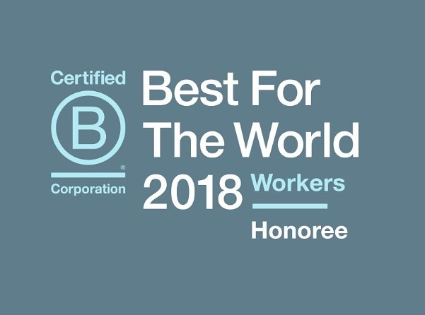 Great news! We're thrilled to be recognised in the @Bcorporation Best for the World 2018 Honoree list for worker impact - third year running! This reaffirms our continued commitment to create the best possible environment for our team.