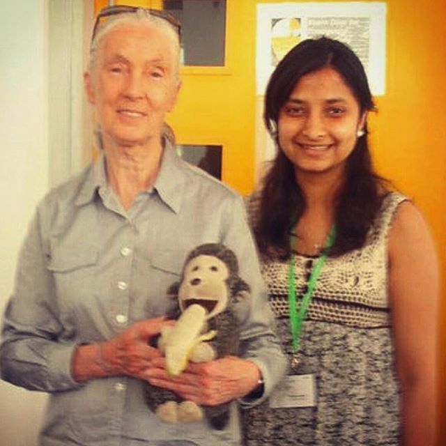 Congrats to our latest B the Change winner – Mahima Kalla!  Every month at Nation Partners, a member of the team is awarded for their efforts going above and beyond.  As part of this award, Mahima will donate to Dr Jane Goodall's Roots and Shoots program on behalf of the business. Roots and Shoots is a youth-led initiative of the @janegoodallau Institute that aims to inspire and empower youth to make a positive difference – a cause very close to Mahima's heart.  Through Roots and Shoots, young people select a cause of their choice in the areas of animal welfare, environmental protection and social issues and create their own projects for their local schools or communities. Their global network is currently making a difference in over 100 countries.  As a university student, Mahima started and ran a Roots and Shoots group at Monash University, raising funds for HIV positive orphans, campaigning for fair trade product use within the university and organising various tree planting drives among other initiatives.  Mahima is pictured here as a second-year university student with Dr Jane Goodall, representing the Australian Roots and Shoots groups at the Asia Pacific Youth Summit in Hong Kong. Great stuff Mahima!  @rootsandshoots